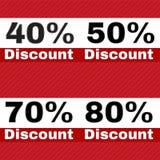 Sale discount icons Stock Photo
