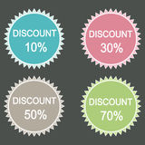 Sale discount icons. Stock Photography