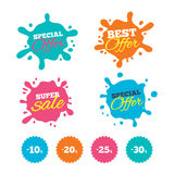 Sale discount icons. Special offer price signs. Royalty Free Stock Photography