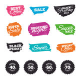 Sale discount icons. Special offer price signs. Royalty Free Stock Photos