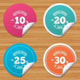 Sale discount icons. Special offer price signs. Royalty Free Stock Images