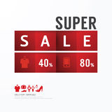 Sale Discount Icons Styled .Advertising Tag Banners. Vector Stock Images