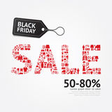 Sale Discount Icons Styled .Black Friday Advertising Price Tag B Stock Photo