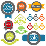 Sale or discount Label or banner and Sticker Vintange Stock Images