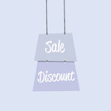 Sale discount label flat design copia Royalty Free Stock Photography
