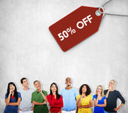 Sale Discount Label Tag Commerce Concept Stock Photography