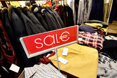 Sale discount at luxury clothing store in Germany Royalty Free Stock Photography