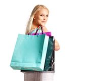 Sale Discount Makes a Shopaholic Smile Stock Photo