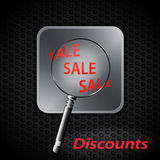 Sale discount on metallic background Stock Image