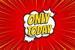 Seasonal sale comic text pop art sticker. Sale discount offer hand drawn speech bubble. Template comics speech balloon halftone dot background. Pop art style Royalty Free Stock Image