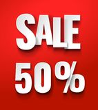 Sale 50% discount offer price label vector illustration