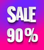 Sale 90% discount offer price label stock illustration