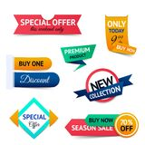 Sale discount origami banners Stock Images