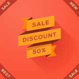 Sale, discount paper folding design Stock Photo
