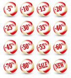 Sale discount percent icons Stock Photo