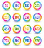 Sale discount percent icons Royalty Free Stock Images