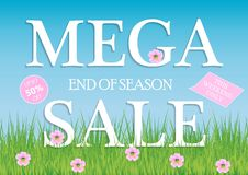 Sale, a discount of 50 percent, only this weekend. Template for flyer, banner for website. Vector illustration. Sale, a discount of 50 percent, only this vector illustration