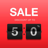 Sale, discount poster, vector illustration Royalty Free Stock Photography