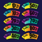 Sale. Discount price tags. this weekend special offer banner, up. To 100% off. Vector illustration.. price tag. SALE colorful. percent. discount. Super sale Stock Images