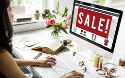 Sale Discount Promotion Marketing Graphic Concept Stock Images