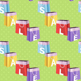 Sale discount seamless pattern Stock Image