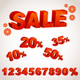 A sale discount set with percents Royalty Free Stock Photo