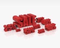 Sale discount set Stock Image