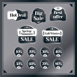 Sale, discount set of vintage labels. Best price and special offer. B Royalty Free Stock Image