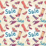 Sale Discount Shoes Seamless Texture Royalty Free Stock Photos
