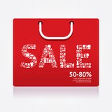 Sale Discount Shopping bag Styled . Advertising Banners. Vector Royalty Free Stock Photos