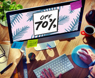 Sale Discount Shopping Shopaholics Promotion Concept Stock Images