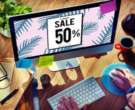 Sale Discount Shopping Shopaholics Promotion Concept Royalty Free Stock Photo