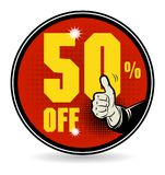 Sale discount sign. Vector illustration Stock Photos