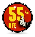 Sale discount sign. Vector illustration Stock Photo