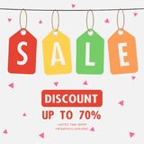 Sale Discount special offer weekend , tag promotion sign symbol. Vector illustration Royalty Free Stock Image