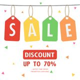 Sale Discount special offer weekend , tag promotion sign symbol. Vector illustration Royalty Free Stock Photo