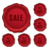 Sale and discount stamps Stock Images