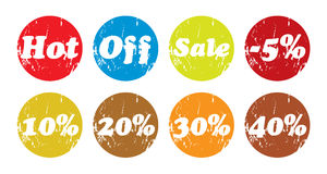 Sale and discount stickers Royalty Free Stock Photos