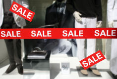 Sale discount store for clothes Stock Photos