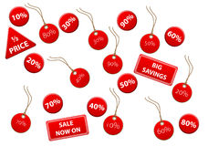 Sale Discount Tags Stock Image
