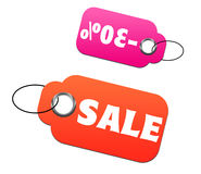 Sale and discount tags Stock Image