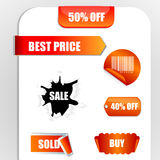 Sale and discount tags Stock Photography