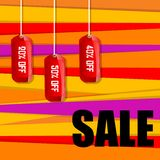Sale and discount tags Royalty Free Stock Images