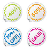 Sale or discount tags Royalty Free Stock Photo