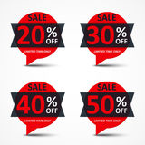 Sale discount tags Stock Photography