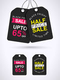 Sale and Discount Tags or Labels design. Royalty Free Stock Photos