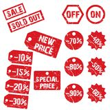 Sale and discount tags set 2 Royalty Free Stock Image