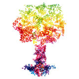 Sale discount tree stock photography