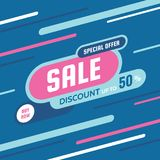 Sale discount up to 50% -concept banner vector illustration. Special offer abstract creative layout. Buy now. Graphic design. Sale discount up to 50% -concept vector illustration