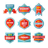 Sale and discount vector badges in flat style design. Sale badges collection. Stock Photo